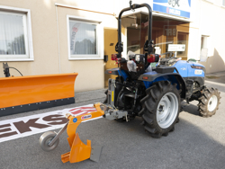 single furrow plough with gauge wheel for tractors like yanmar iseki dp 20
