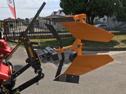 reversible plough with manual lever operated overturning for tractors drp 35