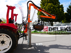 hydraulic forestry crane with log grapple for tractor crab 3000