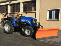 snowplough with plate for tractor lns 130 a