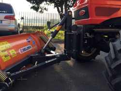snowplough with plate for tractor lns 170 a