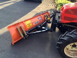 snowplough with plate for tractor lns 190 a