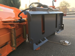 snowplough for up to 3 0 ton skid steer loaders lnv 180 m
