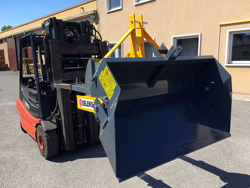 heavy bucket attachment for forklift prm 160 hm