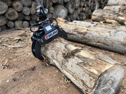 log grapple with rotator for mini diggers and forest cranes dk 10 gr 10
