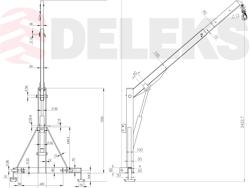 hydraulic crane for agricultural tractor el 500