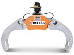log grapple with fixed pendulum rotator for minidiggers and forest cranes dk 16 gr 30f