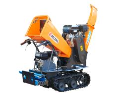 tracked petrol chipper shredder minidumper woodchipper dk 800 green