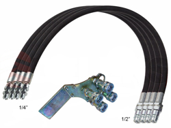 4 hydr pipes 4 00m fast connection set