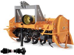 heavy rotavator tiller for tractors working width 180cm for soil preparation mod dfh 180