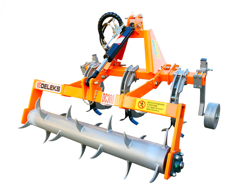 ripper three anched subsoiler with clod breaker roller for tractor dc300h