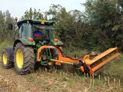 sideshift flail mower heavy offset side mulcher for tractors alce 140