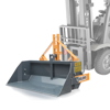 transport box with mechanical or hydraulic tipping for forklift