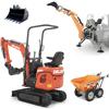 tracked mini excavators and tractor mounted backhoe deleks