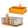 balanced tipping bucket and transport boxes for tractors